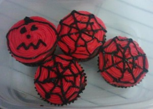Decorated cupcakes.