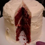 3 layer Red Velvet cake.