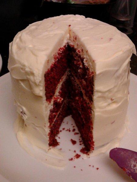3 layer Red Velvet cake.
