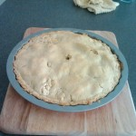 Apple pie after bake.